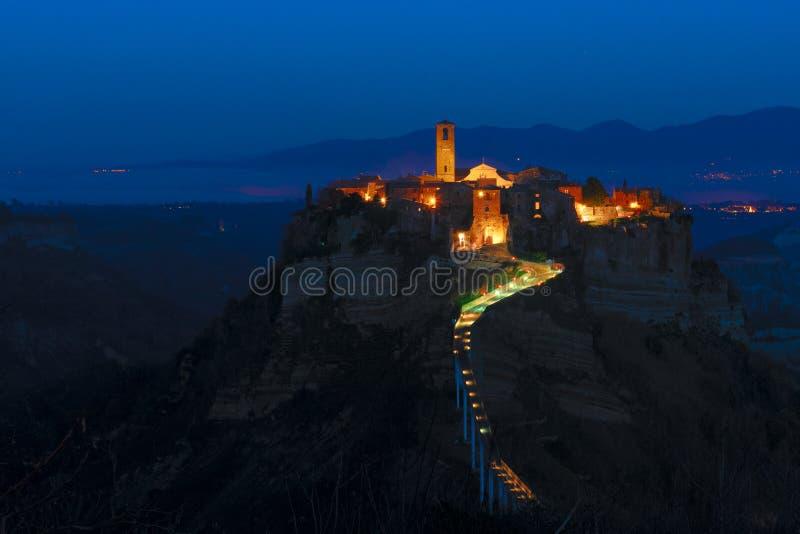 Civita Di Bagnoregio, η πόλη Enchanted, Ιταλία στοκ φωτογραφία