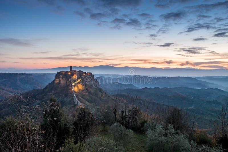 Civita di Bagnoregio fotografía de archivo libre de regalías
