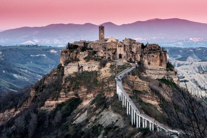 Civita Di Bagnoregio - Dode Stad royalty-vrije stock afbeelding