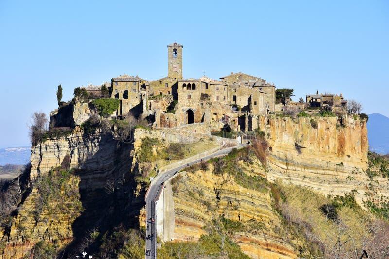 Civita di Bagnoregio na Úmbria, Itália imagens de stock royalty free