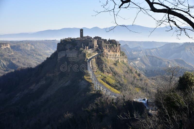 Civita di Bagnoregio na Úmbria, Itália imagens de stock