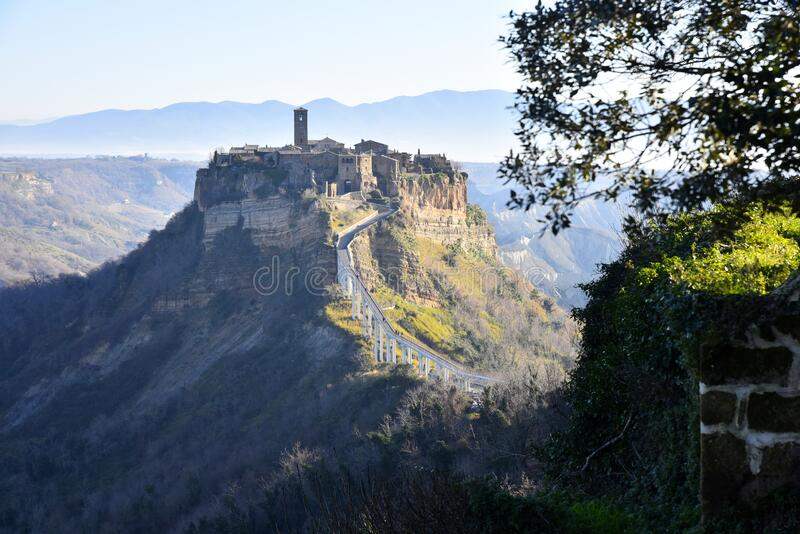 Civita di Bagnoregio na Úmbria, Itália fotos de stock royalty free