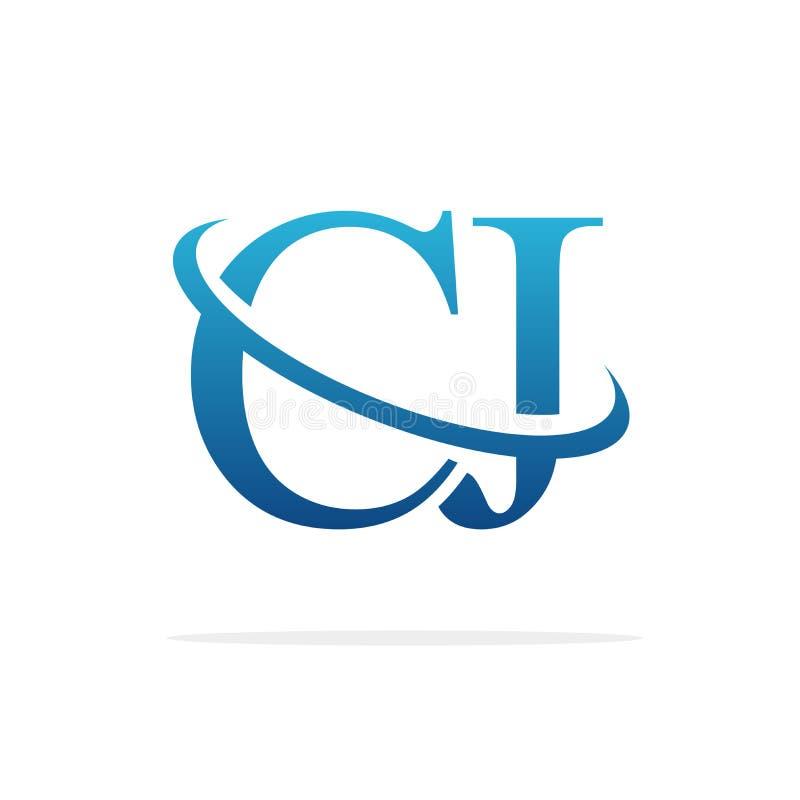 CJ het creatieve vectorart. van het embleemontwerp stock illustratie