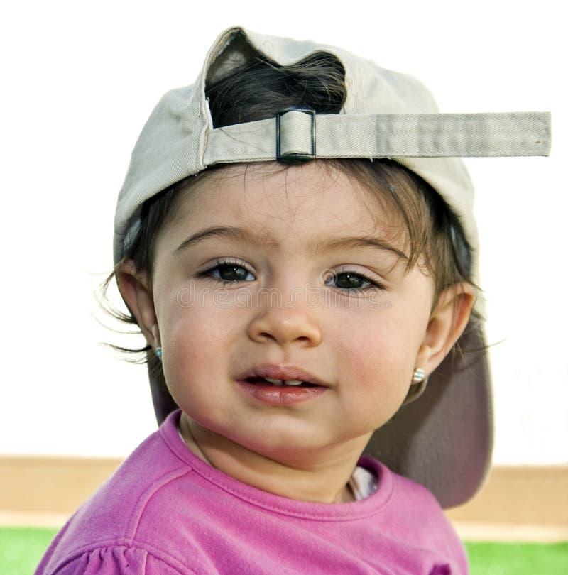 Cjil avec le chapeau photo stock