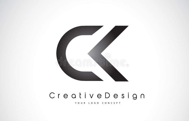 CK C K Letter Logo Design. Creative Icon Modern Letters Vector L royalty free illustration
