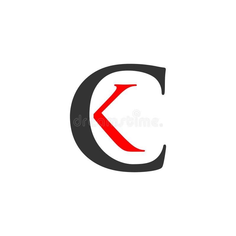 CK Logo Vector Template Design Illustration vector illustratie