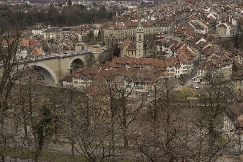 Cke de ¼ d'Untertorbrà et vieille ville de Berne switzerland image libre de droits