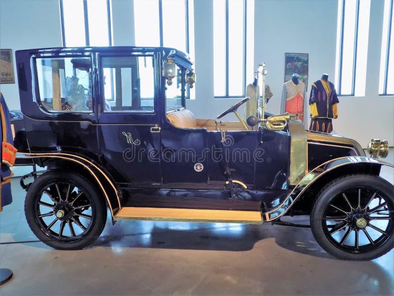 Clásico-museo motorig-MÁLAGA del coche imágenes de archivo libres de regalías