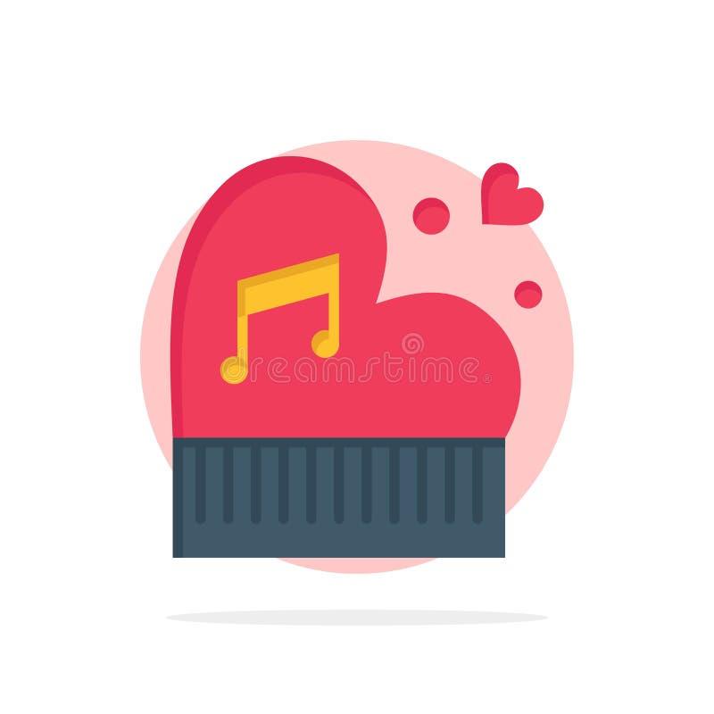 Clássico, amor, união, paixão, piano, Valentim, do fundo abstrato do círculo do casamento ícone liso da cor ilustração stock