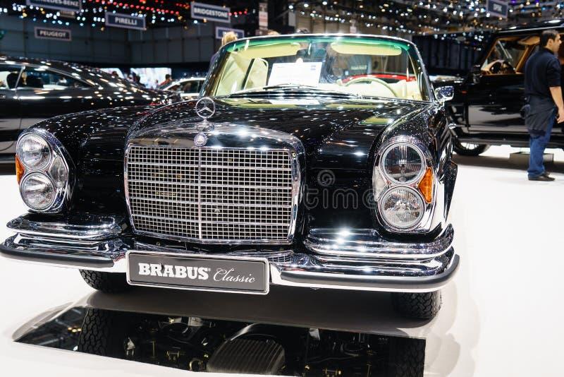 Clássico de Brabus, exposição automóvel Geneve 2015 fotografia de stock royalty free