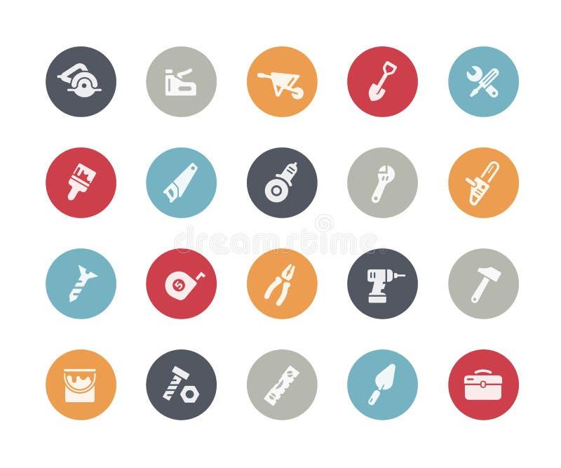 Clássicos de //dos ícones das ferramentas ilustração do vetor