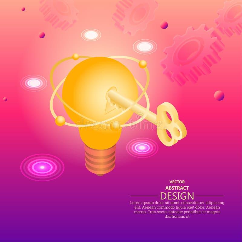 Clé à l'idée innovatrice illustration libre de droits