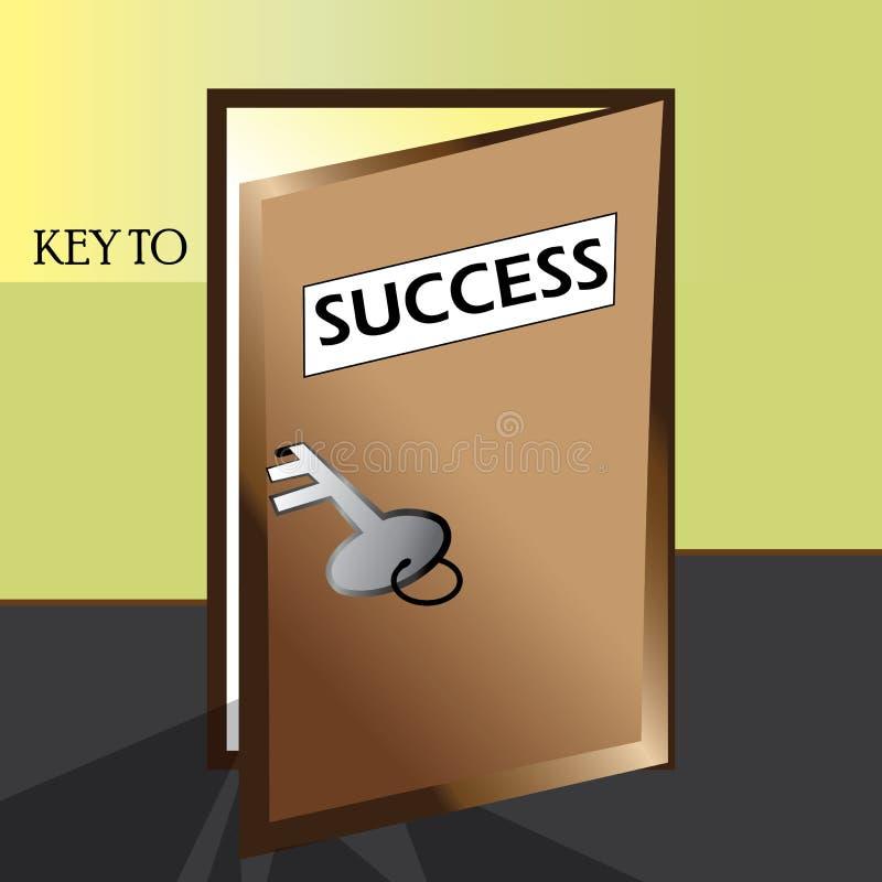Clé à l'illustration de succès illustration stock