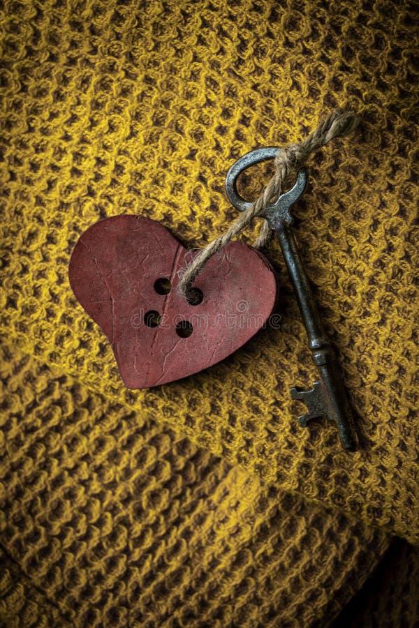 Clé à votre coeur images libres de droits