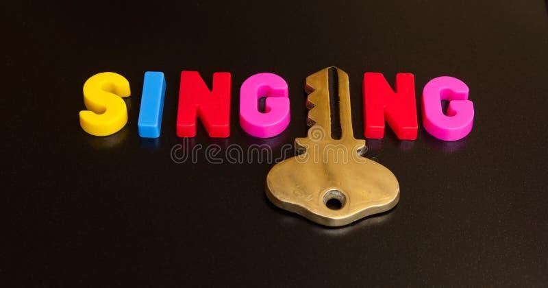 Clé au chant image libre de droits