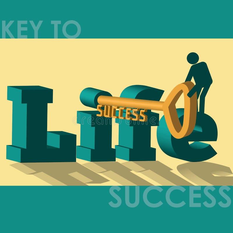 Clé au succès - illustration illustration libre de droits