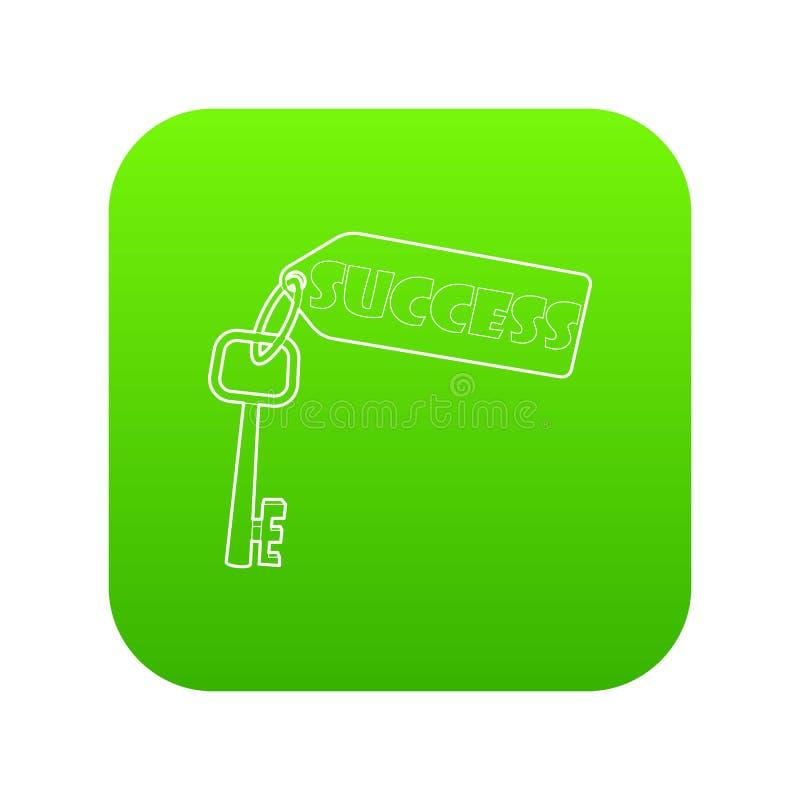 Clé au vecteur de vert d'icône de succès illustration de vecteur