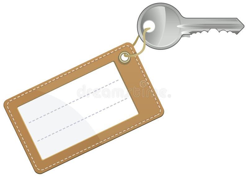 Clé avec l'étiquette blanc des textes illustration de vecteur
