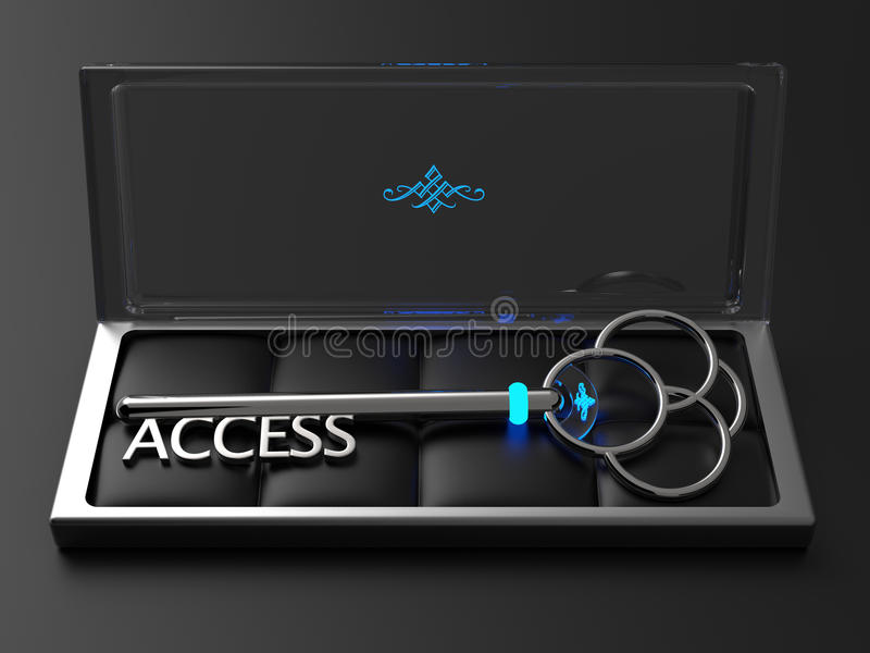 Clé d'Access illustration stock