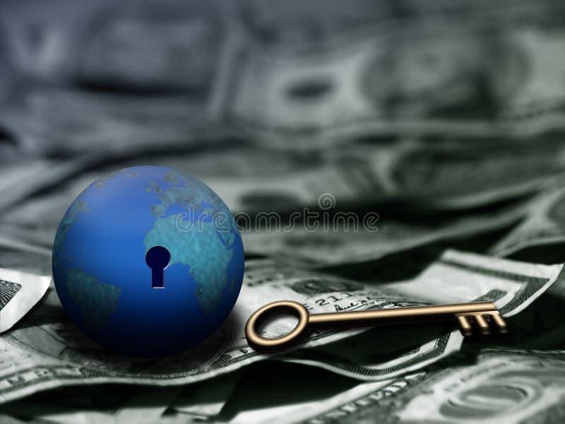 Clé d'affaires globales photos libres de droits