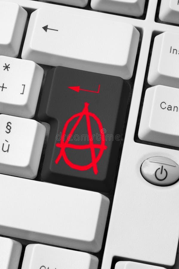 Clé d'anarchie photographie stock