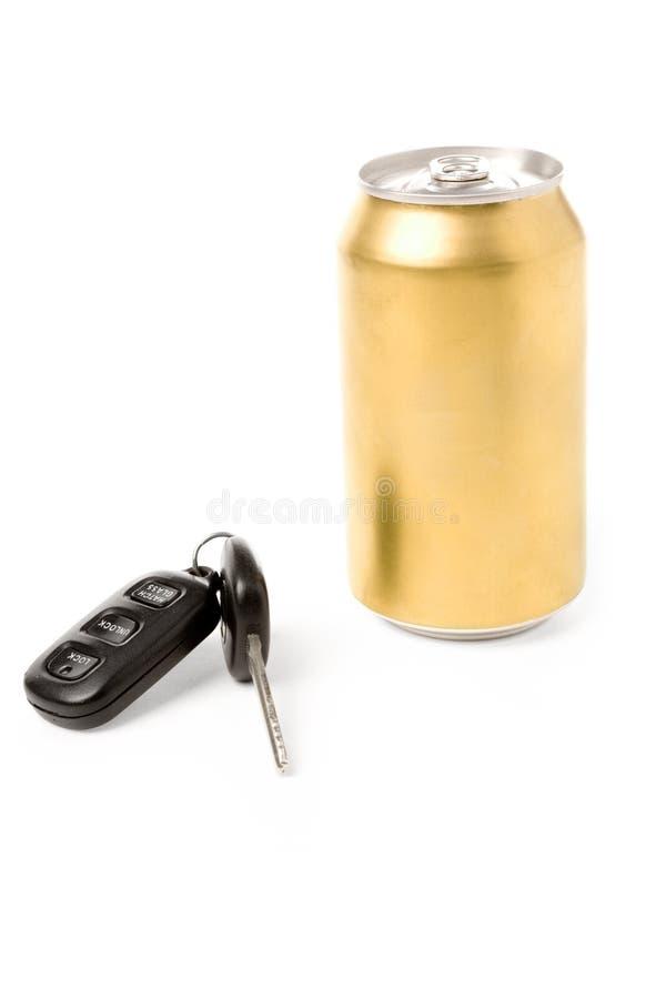 Clé de bière et de véhicule images libres de droits
