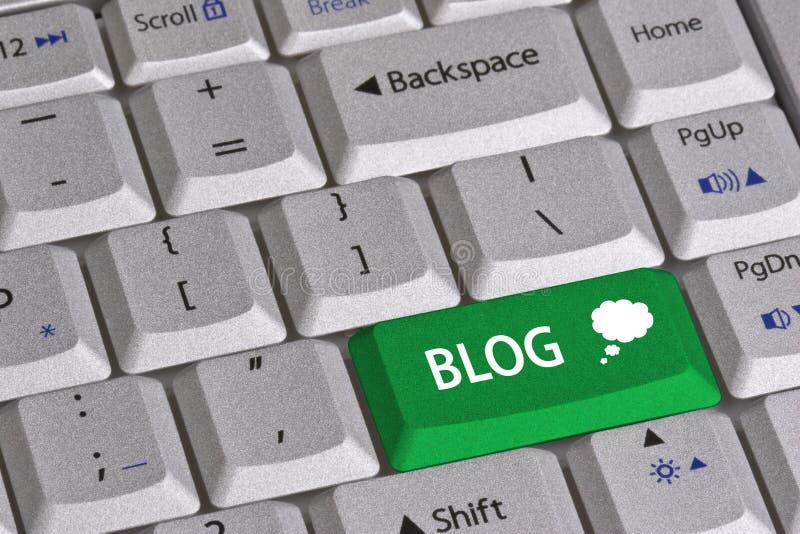 Clé de blog photographie stock