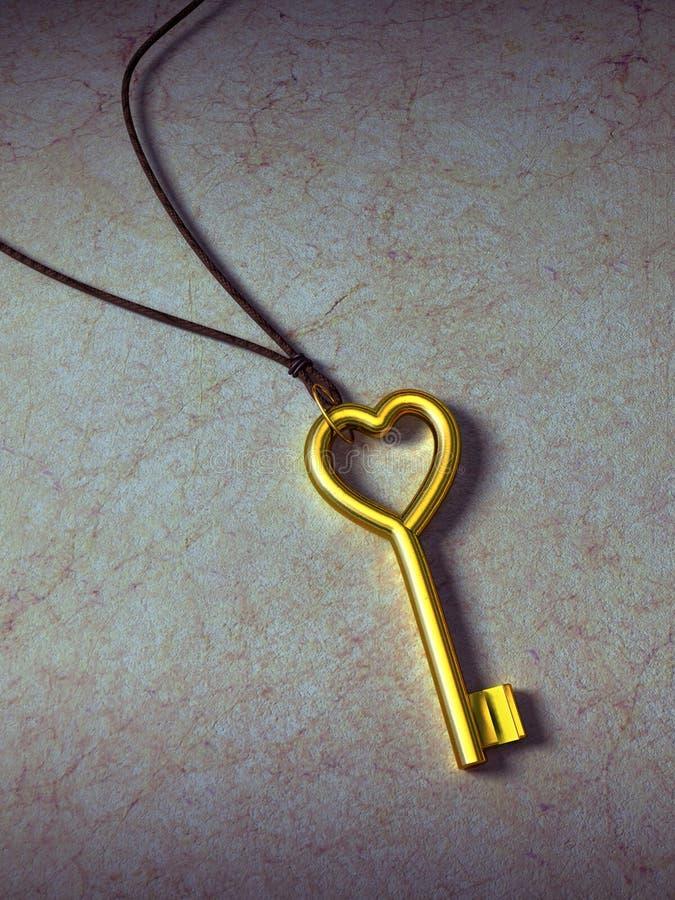 Clé de coeur illustration de vecteur
