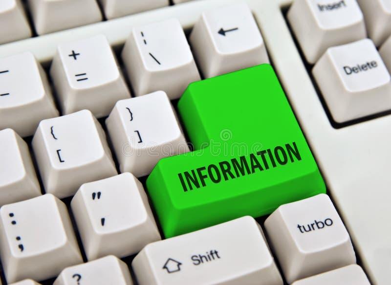 Clé de l'information image libre de droits