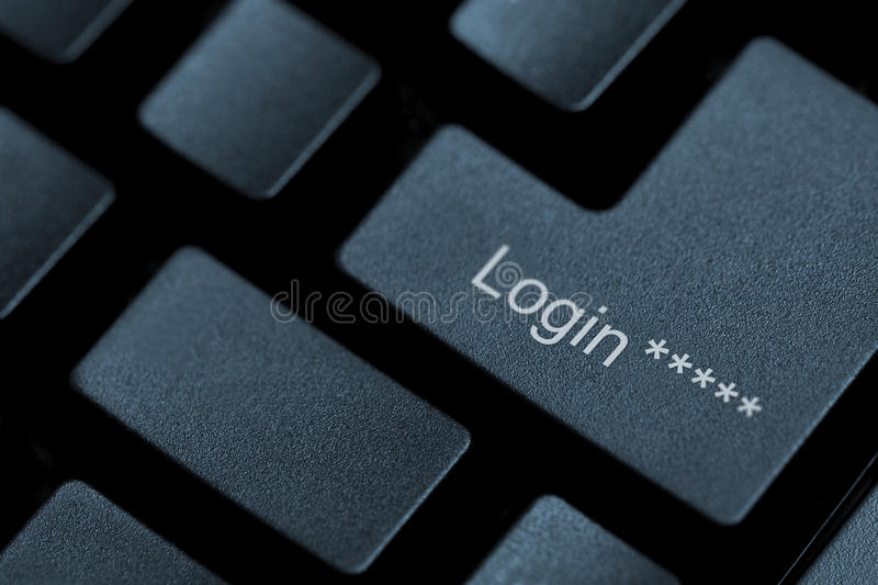 Clé de login photo stock