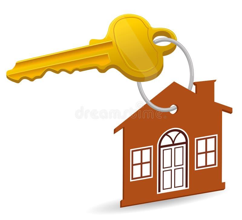 Clé de maison illustration de vecteur