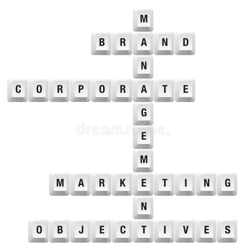 Clé de management de marque illustration de vecteur