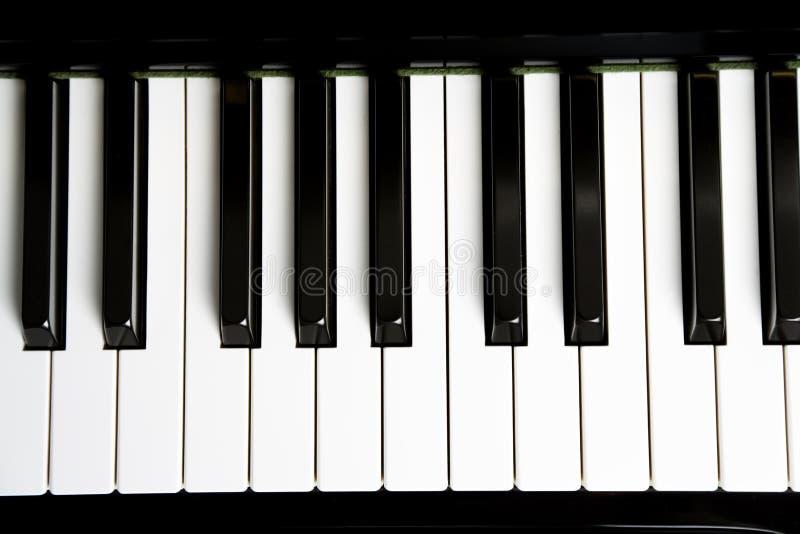 Clé de piano photographie stock