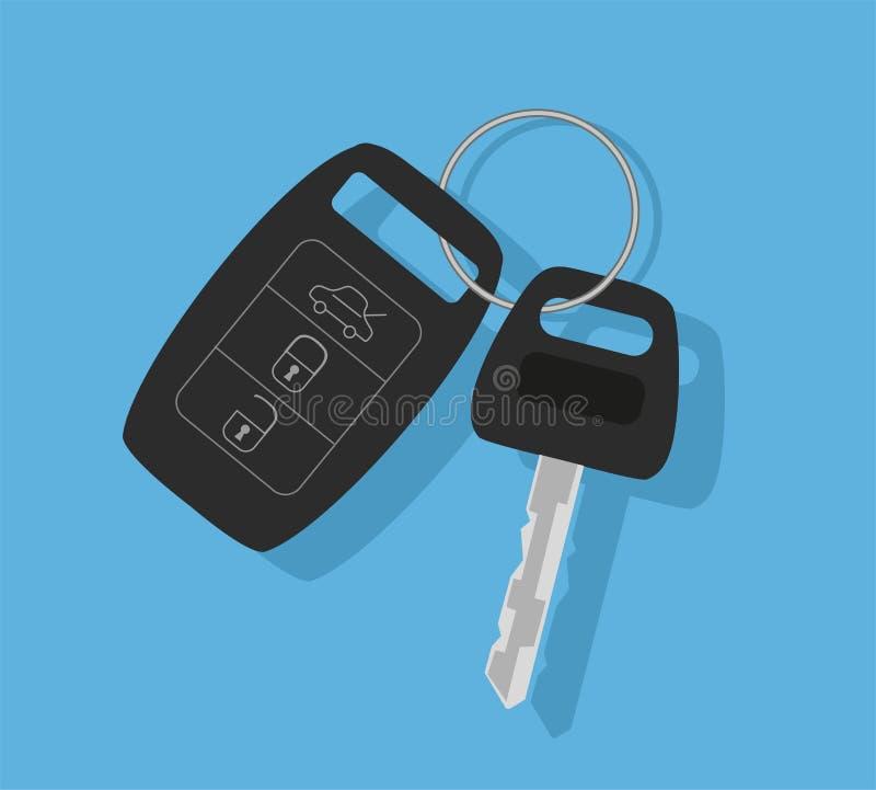 Clé de véhicule avec à télécommande illustration libre de droits