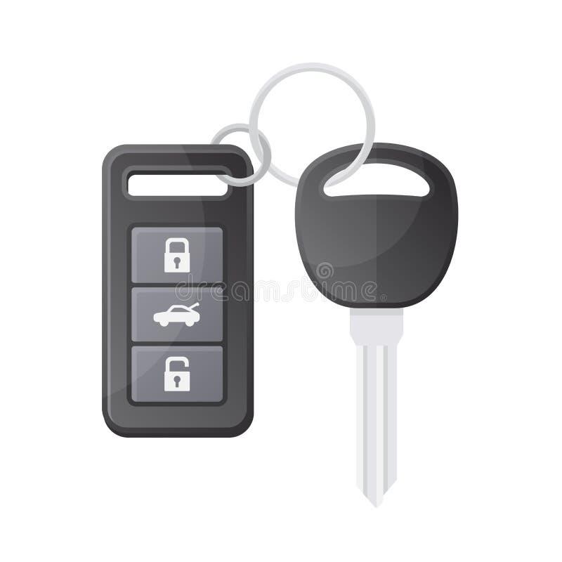 Clé de véhicule avec à télécommande Vecteur illustration de vecteur