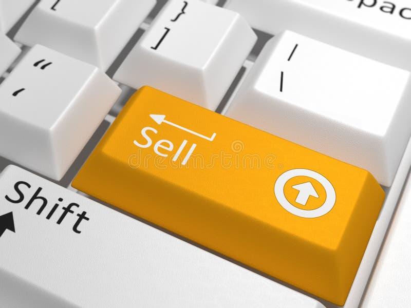 Clé de vente sur le clavier images stock