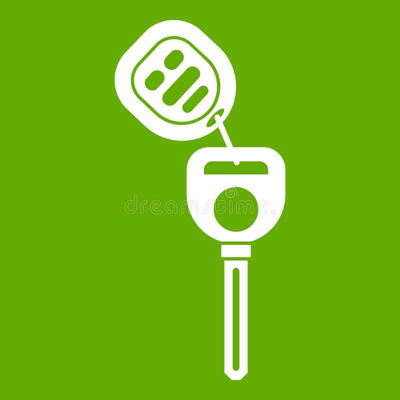 Clé de voiture avec le vert à télécommande d'icône illustration libre de droits