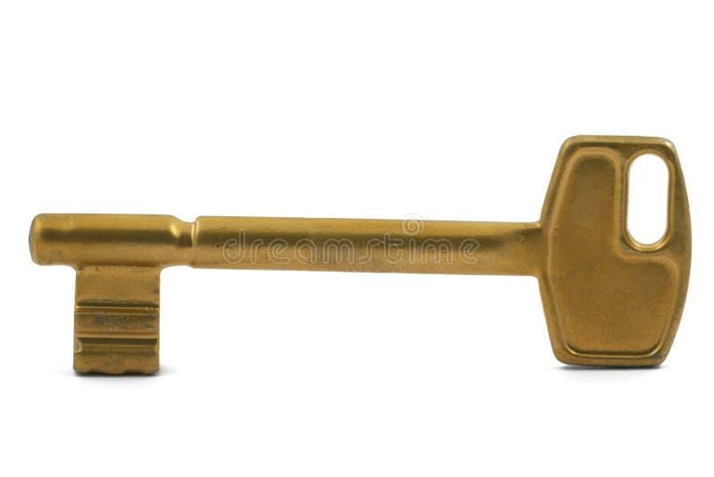 Clé dorée photo stock