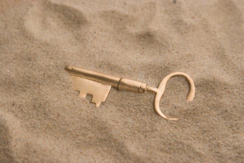 Clé en sable photographie stock