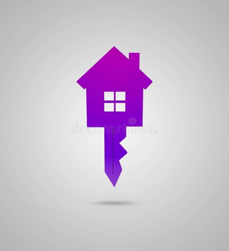 Clé et conception de maison illustration de vecteur