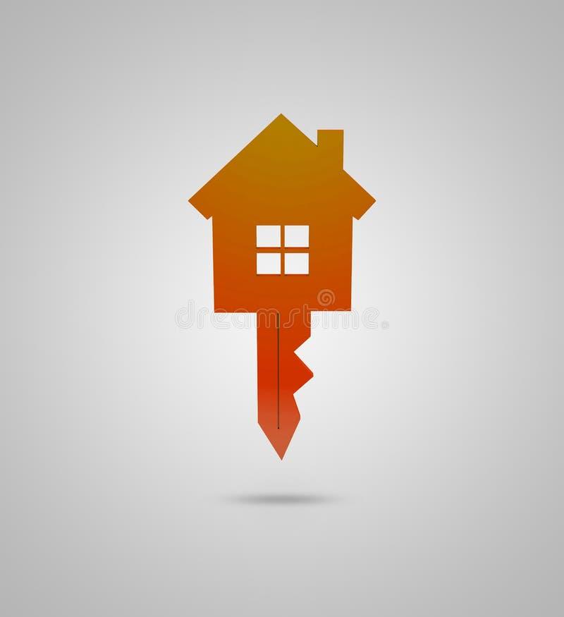 Clé et conception de maison illustration libre de droits