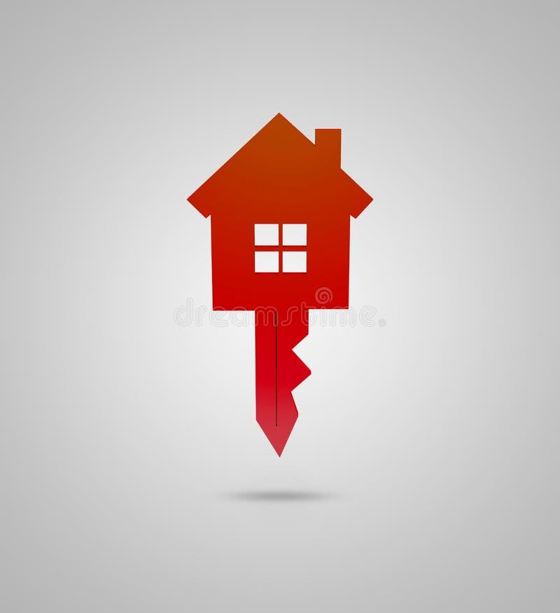 Clé et conception de maison illustration stock