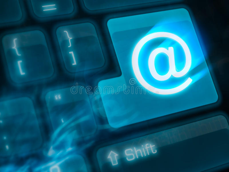 Clé importante - courrier photo libre de droits