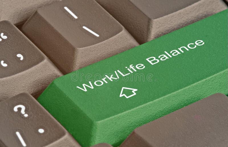 Clé pour l'équilibre de travail/vie images stock