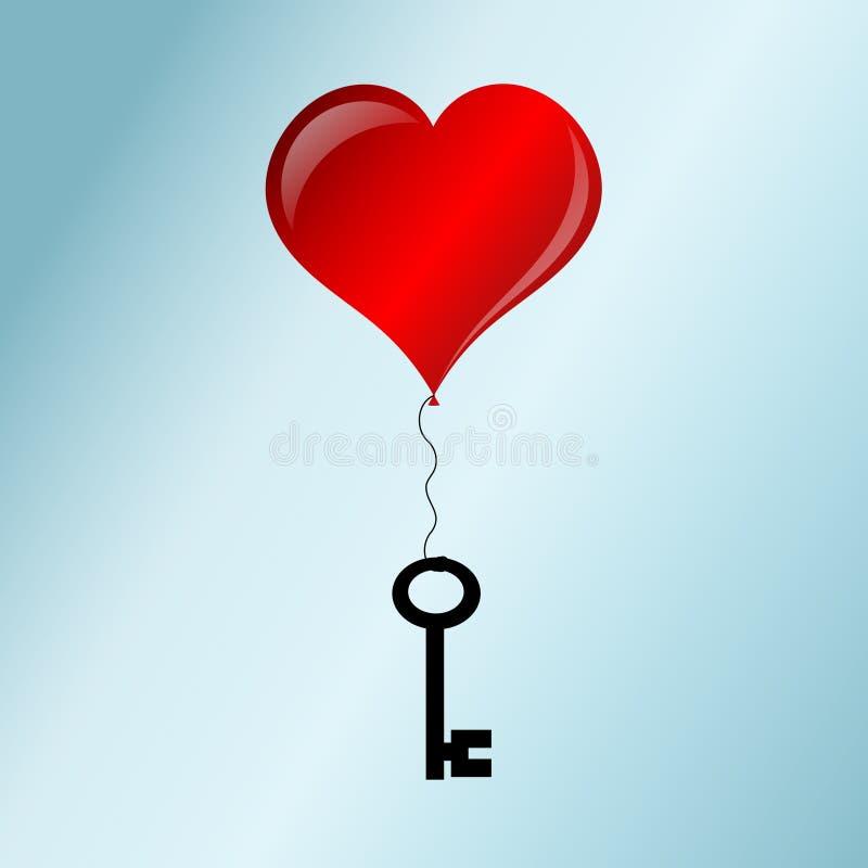 Clé pour l'amour illustration libre de droits