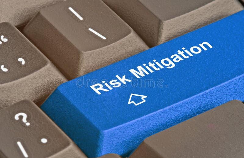 clé pour la réduction de risque images stock