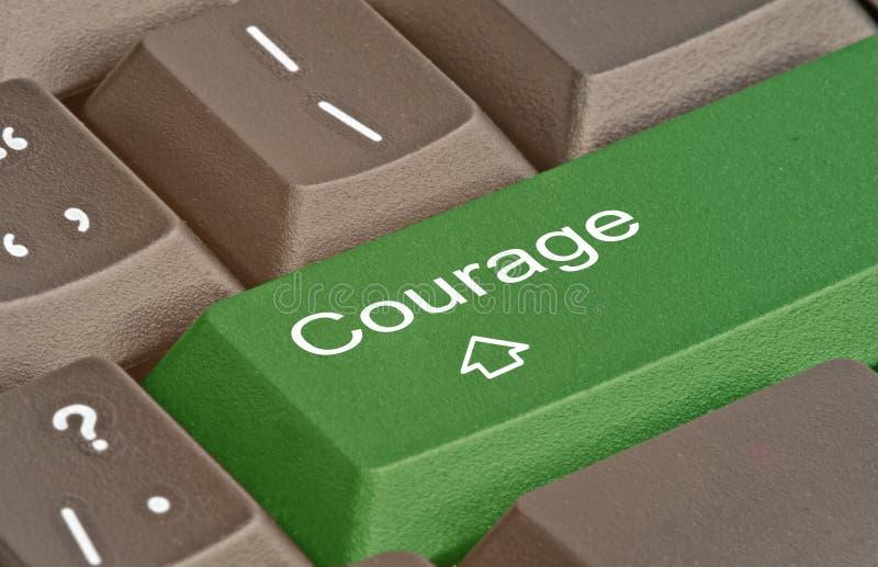 Clé pour le courage photos libres de droits