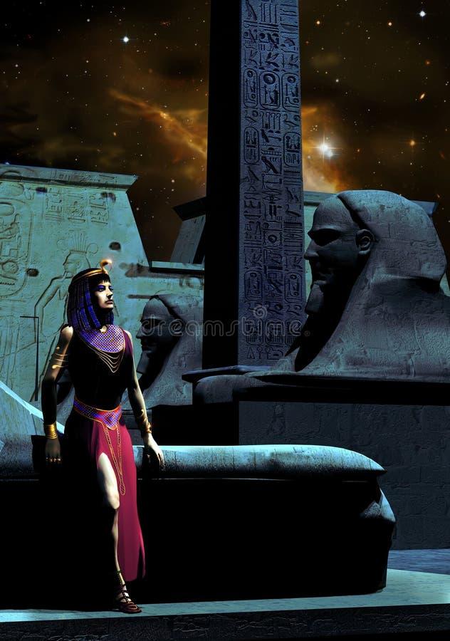 Cléopâtre illustration de vecteur