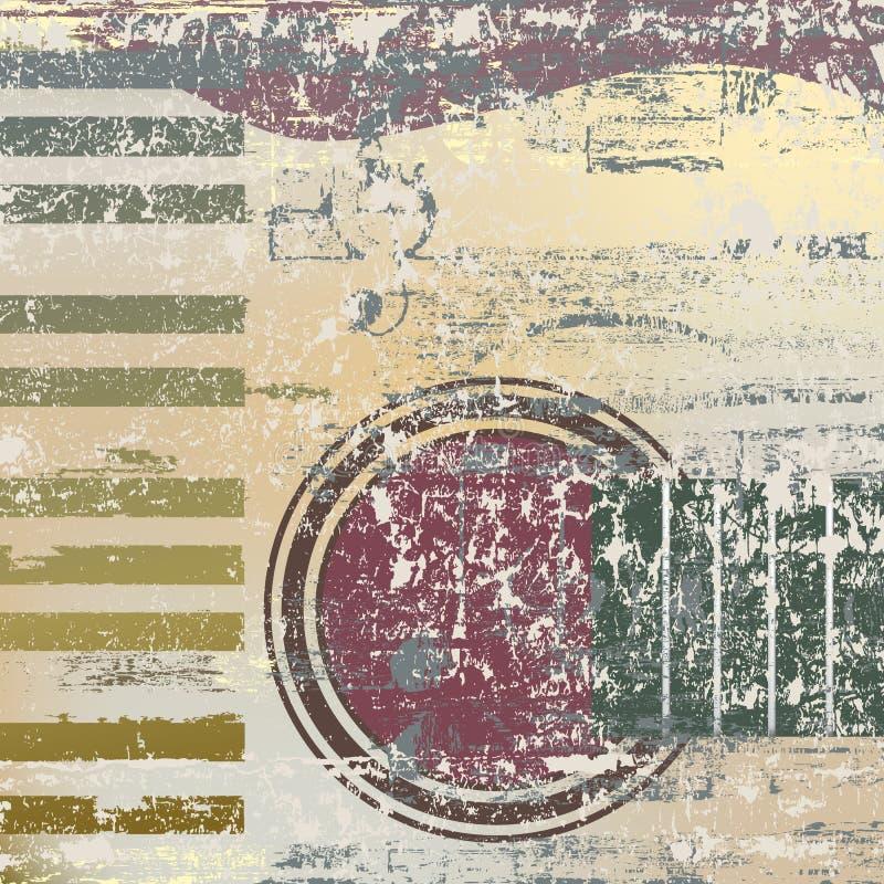 Clés abstraites et guitare de piano de fond illustration libre de droits