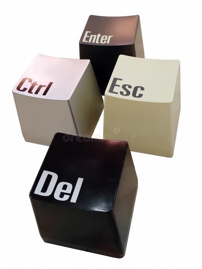Clés de Ctrl+Del+Esc+Enter images stock